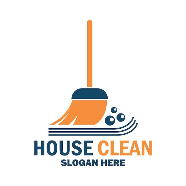 Nettoyage du logo Vecteur Premium