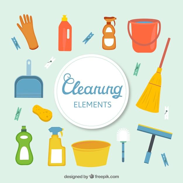 Nettoyage de printemps fond Vecteur gratuit