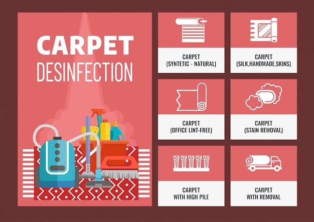 Nettoyage à sec des tapis Vecteur Premium