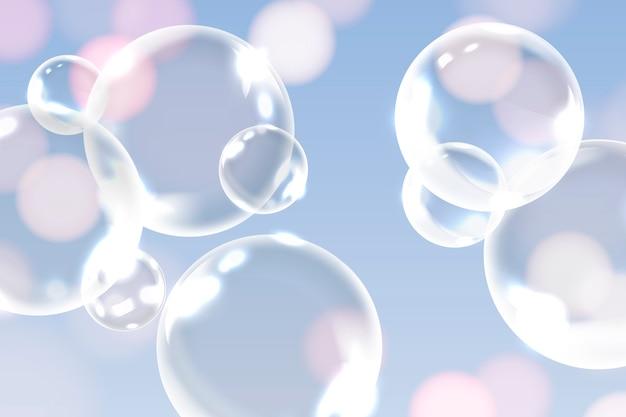 Nettoyer les bulles de savon Vecteur gratuit