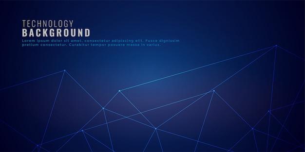 Nettoyer le fond de la technologie des lignes de réseau low poly Vecteur gratuit