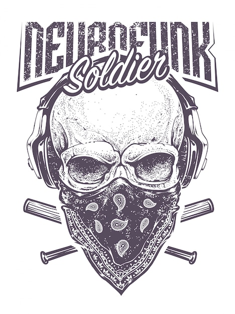 Neurofunk Soldier Vecteur gratuit