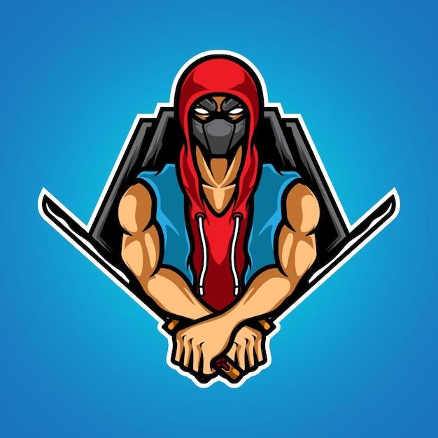 Ninja Urbain Vecteur Premium