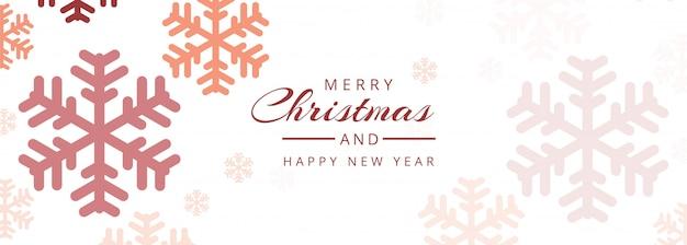 Noël avec bannière Vecteur gratuit