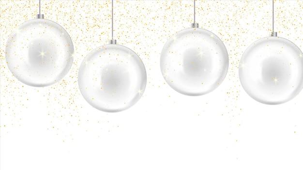 Noël, Fond De Nouvel An Avec Des Boules De Verre. Décoration De Nouvel An Vecteur Premium