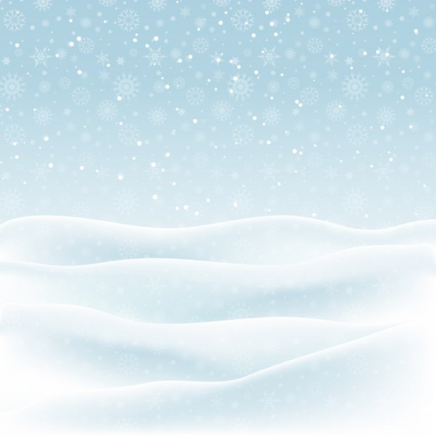 Noël fond d'un paysage enneigé Vecteur gratuit