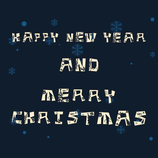 Noël et nouvel an fond illustration vectorielle Vecteur Premium