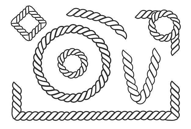 Nœuds De Corde Nautique Vecteur Premium
