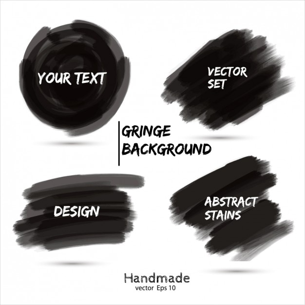 Noir marker scribble collection Vecteur gratuit