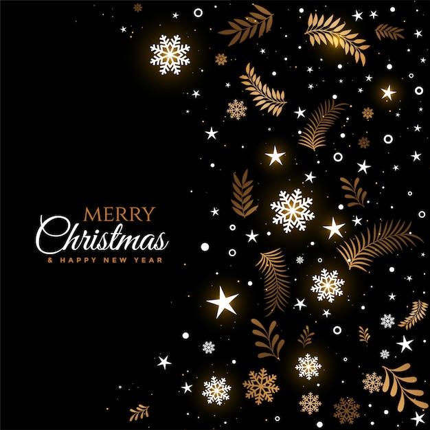 Noir Et Or Joyeux Noël Décoratif Vecteur gratuit