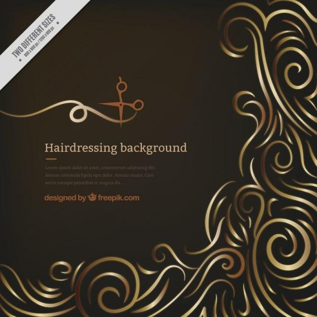 Noir salon de coiffure fond Vecteur gratuit