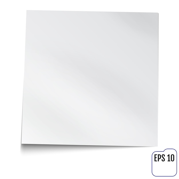Note blanche Vecteur Premium