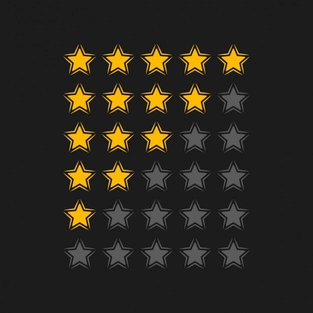 Note étoiles en arrière-plan noir Vecteur gratuit