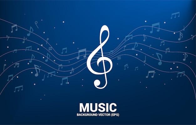 Note De Mélodie Musique Vecteur Danse Flux Vecteur Premium