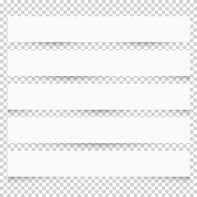 Note papiers blancs avec différentes ombres Vecteur Premium