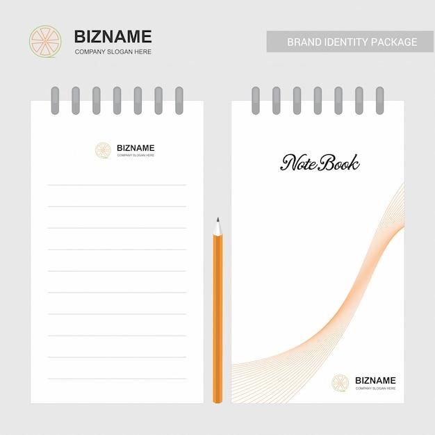 Notepad Avec Logo Et Design élégant Vecteur Premium