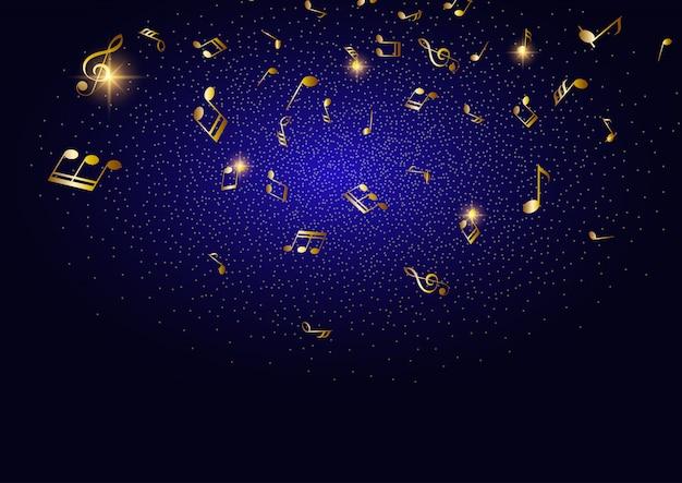 Notes de musique abstraites Vecteur gratuit