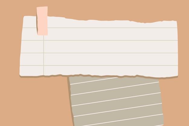 Notes de papier déchirées Vecteur gratuit