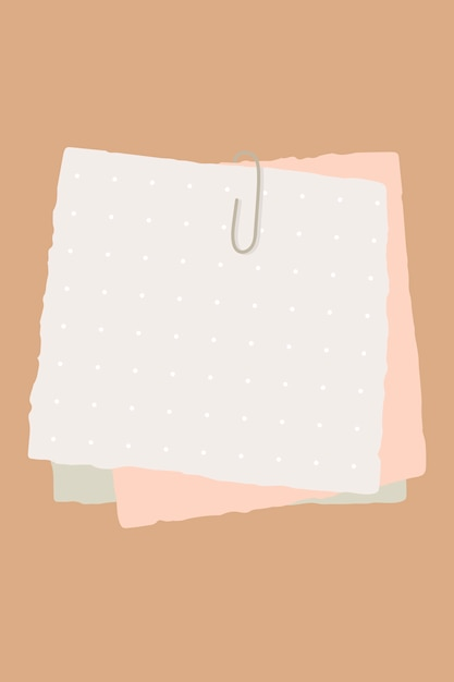Notes de papier Vecteur gratuit