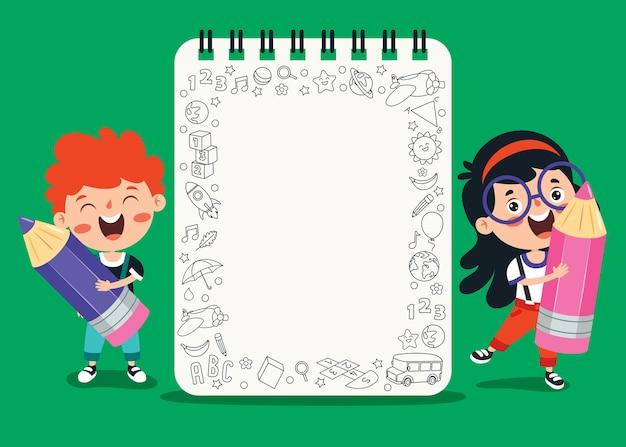 Notes Vierges Pour L'éducation Des Enfants Vecteur Premium