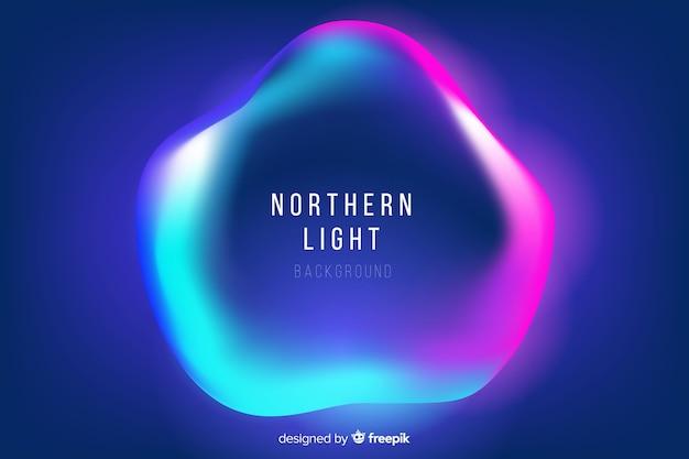 Nothern light avec forme liquide ondulée Vecteur gratuit
