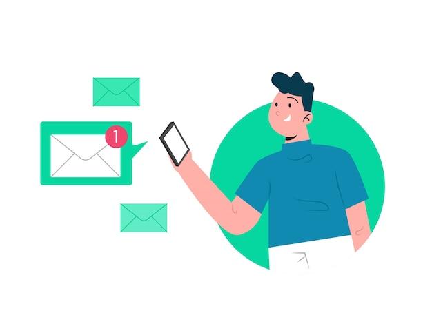 Notification De Message Vecteur Premium