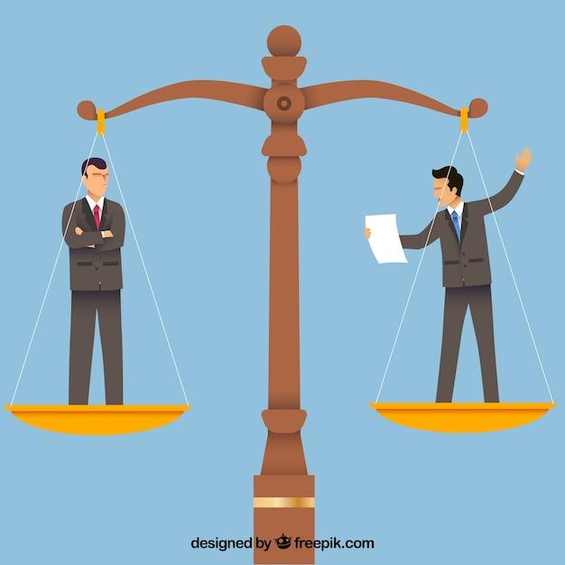 Notion de droit et de justice avec un design plat Vecteur gratuit