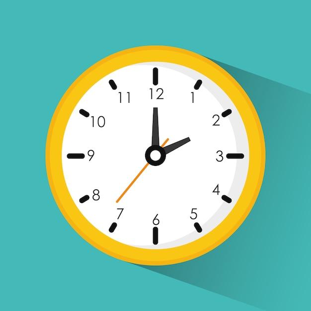 Notion De Temps Vecteur Premium