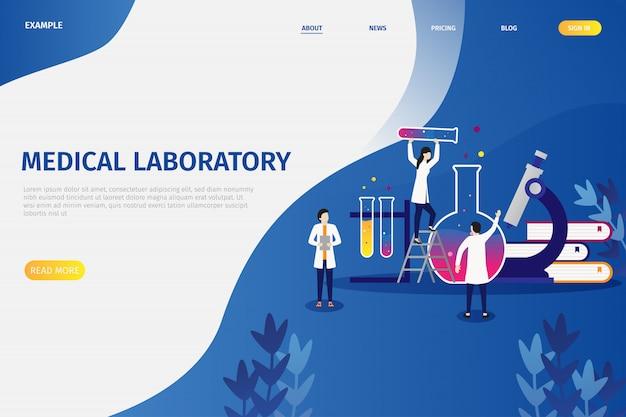Notions d'illustration vectorielle de recherche en laboratoire médical Vecteur Premium