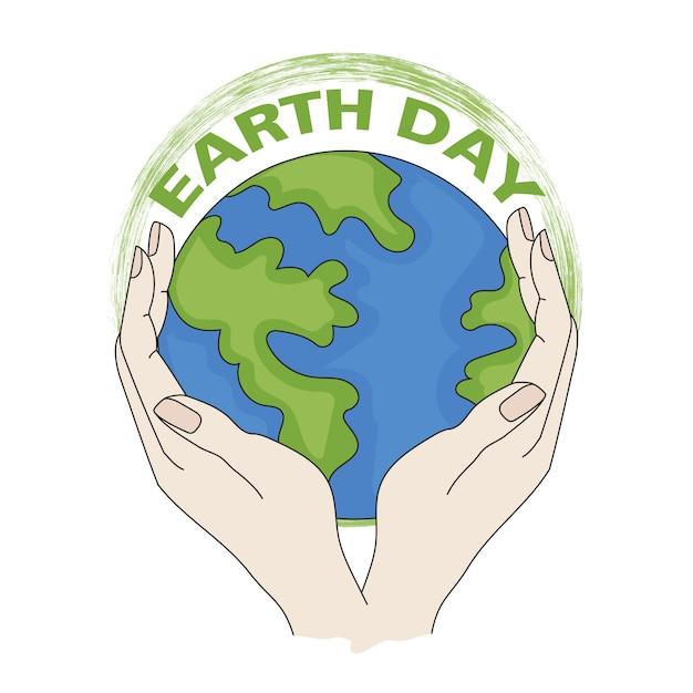 Notre terre problème écologique planétaire Vecteur Premium