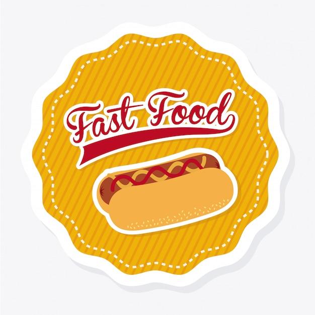Nourriture sur illustration blanche Vecteur gratuit