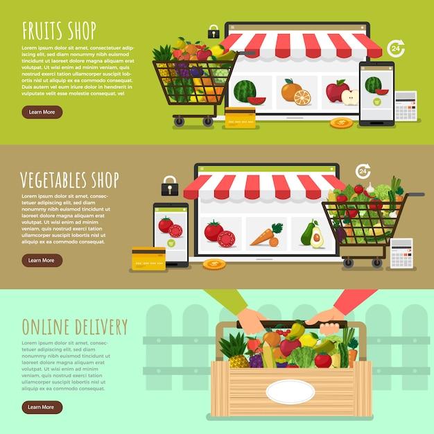 La nourriture saine Vecteur Premium