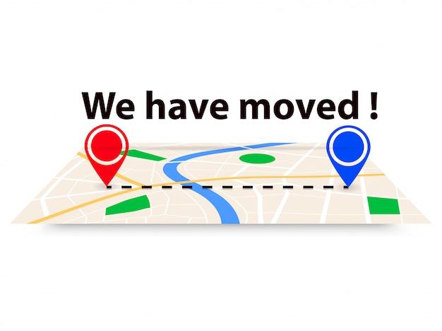 Nous avons déménagé, changé d'adresse Vecteur Premium