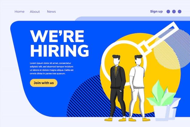Nous embauchons un concept de design d'entreprise Vecteur Premium