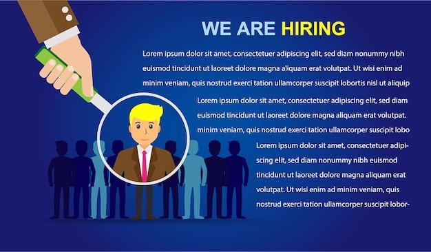 Nous recrutons Vecteur Premium