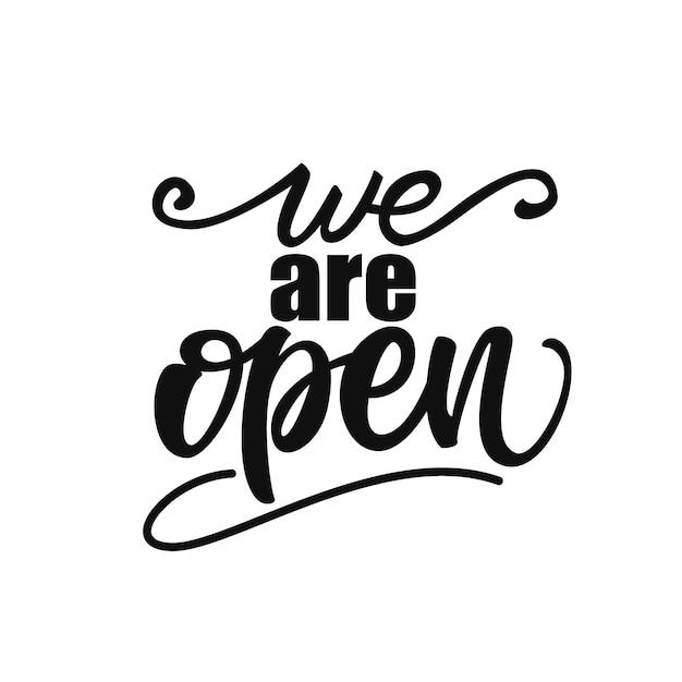 Nous sommes en lettres ouvertes Vecteur Premium