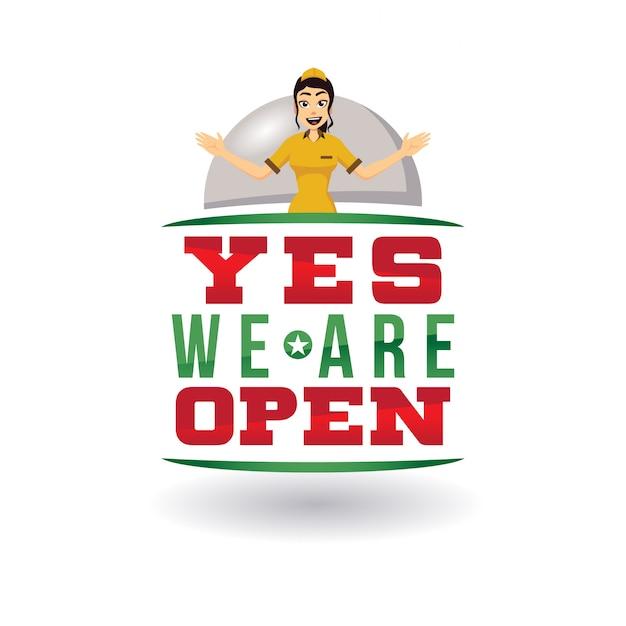 Nous sommes des signes ouverts Vecteur Premium