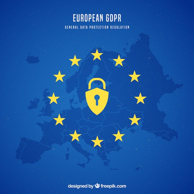 Nouveau concept gdpr européen Vecteur gratuit