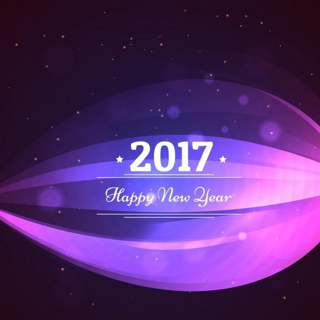 Nouveau design heureux de carte de voeux 2017 avec la conception d 39 onde t l charger des - Carte de voeux 2017 gratuite ...