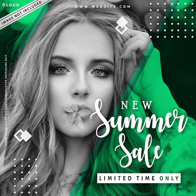 Nouveau modèle de bannière de vente d'été Vecteur Premium