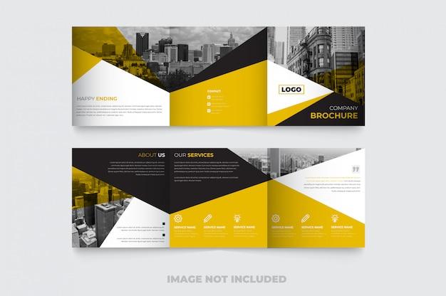 Nouveau Modèle De Brochure à Trois Volets Carré Créatif Vecteur Premium