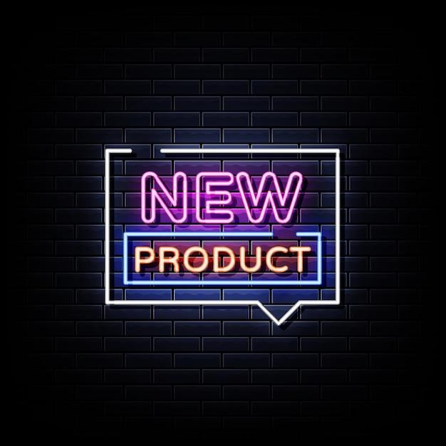 Nouveau Texte De Style D'enseignes Au Néon De Produit Vecteur Premium