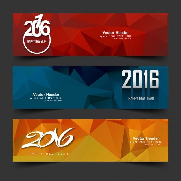 Nouvel an 2016 têtes Vecteur gratuit