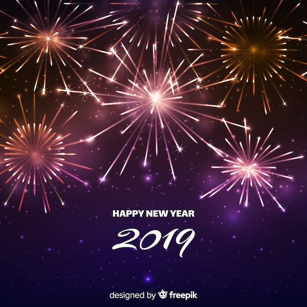 Nouvel An 2019 Fond Vecteur Premium