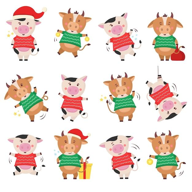 Nouvel An Chinois 2021 Vache Tenant Une Pancarte En Or. Symbole Du