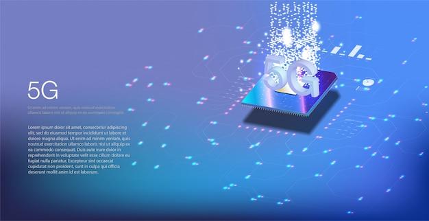 Nouvelle Connexion Internet Wifi Sans Fil. Numéros De Flux De Code Binaire Big Data. Illustration De La Technologie De Débit De Données De Connexion à Haute Vitesse Du Réseau Mondial. Vecteur Premium