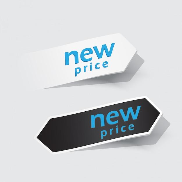Nouvelles étiquettes. Vecteur Premium
