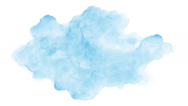 Nuage Bleu Aquarelle Abstraite Vecteur Premium