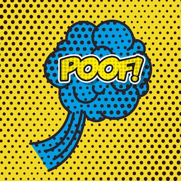 Nuage fumée pop art style vector illustration design Vecteur Premium