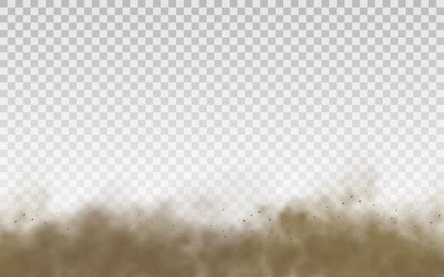 Nuage De Sable Brun Volant Vecteur Premium